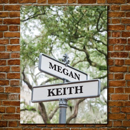 Personalized Cross Road Street Sign
