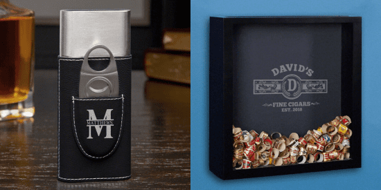 Personalized Cigar Holder and Shadow Box