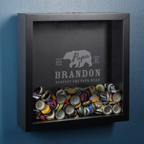 Engraved Shadow Box Dad To Be Gift