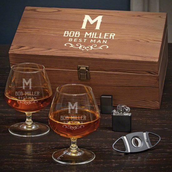 Custom Cognac Glasses Set Best Gifts for Parents
