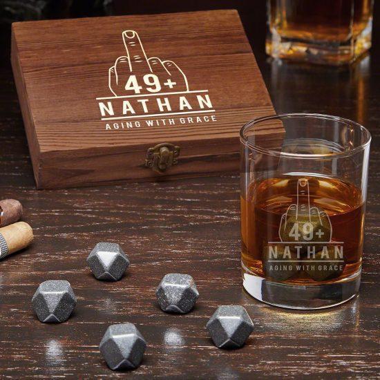 Funny Birthday Whiskey Stone Set