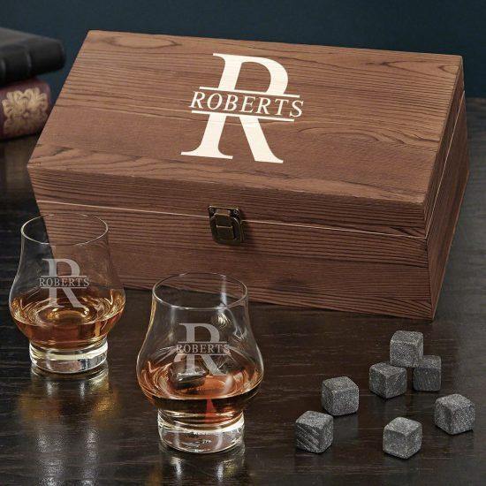 Bourbon Double Snifter Gift Box Set