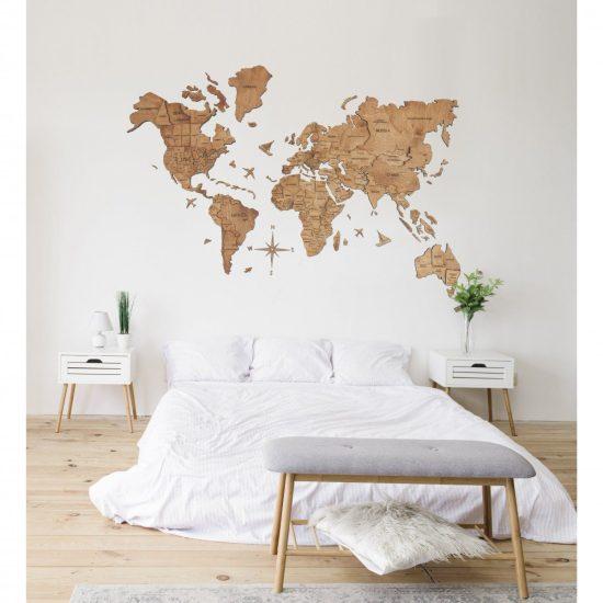 Three Dimension Wall Map