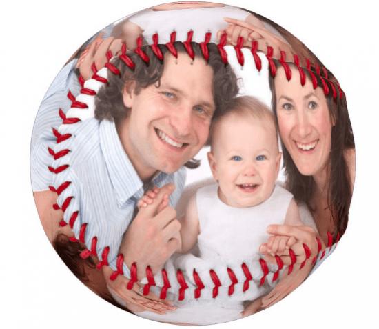 Personalized Photo Baseball Groomsman Gift Idea