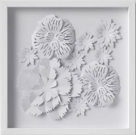Paper Flower Framed Art