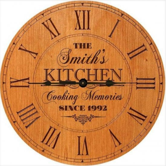 Wall Clock Unique Personalized Gift