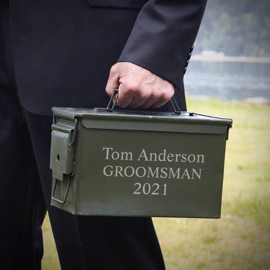 Engraved Ammo Box Gift for Men Under $50