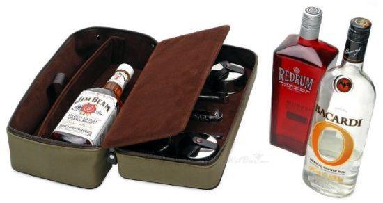 DOPP Leather Travel Bar Set
