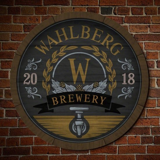 Personalized Wooden Brewery Sign