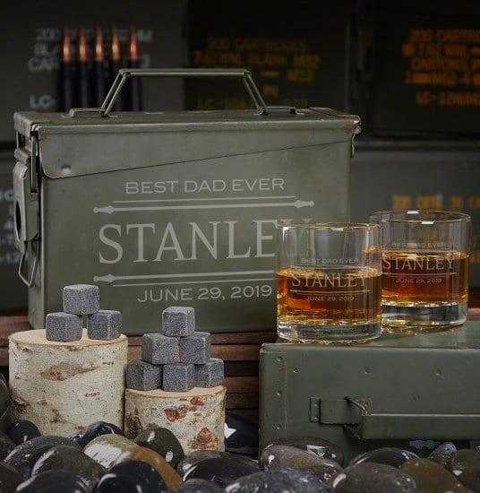 Custom Ammo Can Gift Set with Whiskey Stones