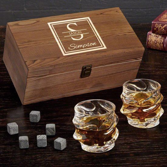 Whiskey Gift Box with Whiskey Stones