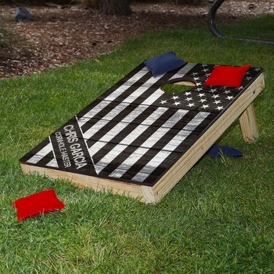 American Flag Bean Bag Toss Set of Marine Corps Gifts