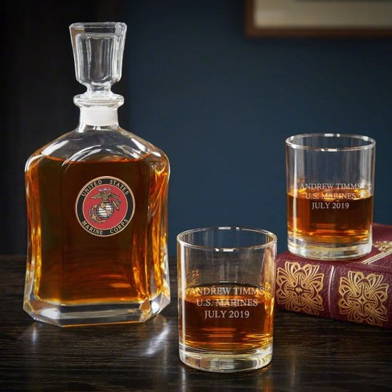 Custom Whiskey Decanter Gifts for Marines