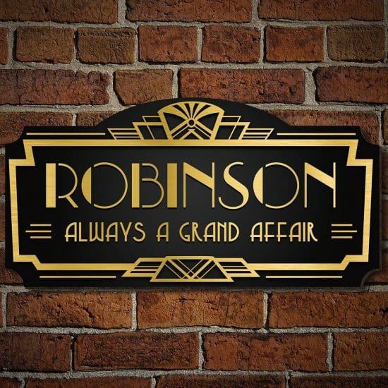 Personalized Art Deco Sign is Awesome Gift for Men