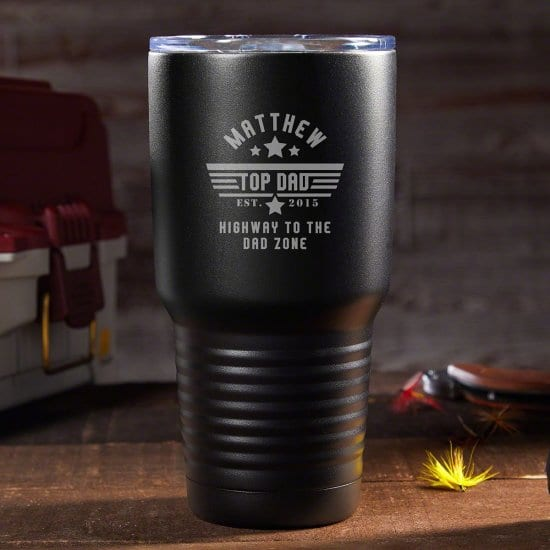 Top Dad Engraved Coffee Tumbler