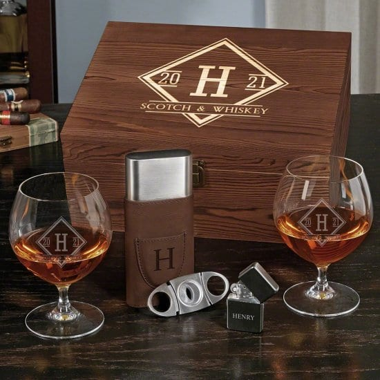 Cognac and Cigar Luxury Gift for Men