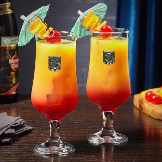 Regal Hurricane Cocktail Glasses
