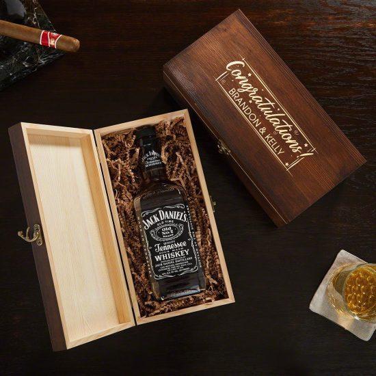 Custom Liquor Bottle Box 50th Anniversary Gift Ideas for Friends