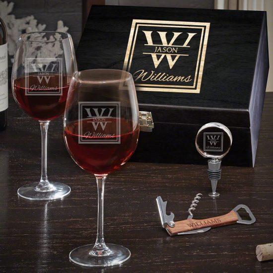 Engraved Wine Gift Set
