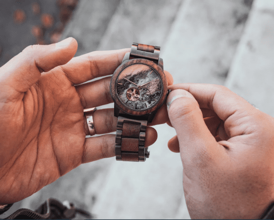 Wooden Watch Engraved Gift for Dad