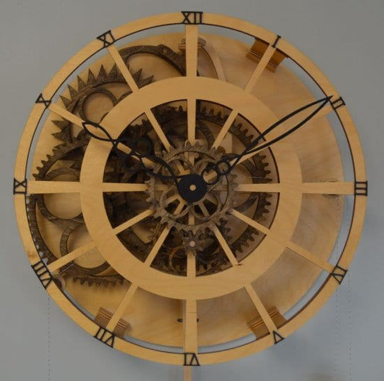 Open Face Wooden Time Clock