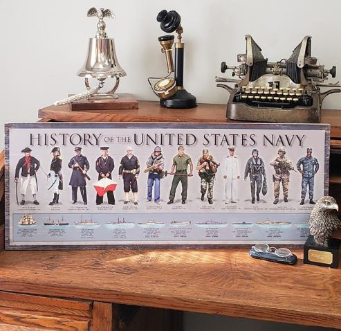 History of the Navy Wooden Sign