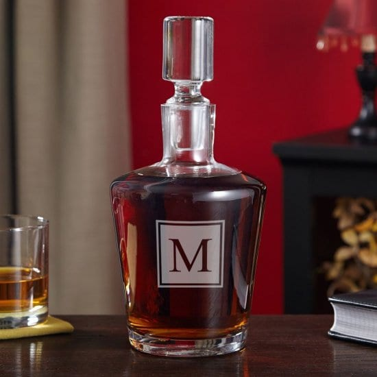 Initialed Decanter Crystal Anniversary Gifts