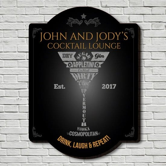 Personalized Cocktail Sign for Men