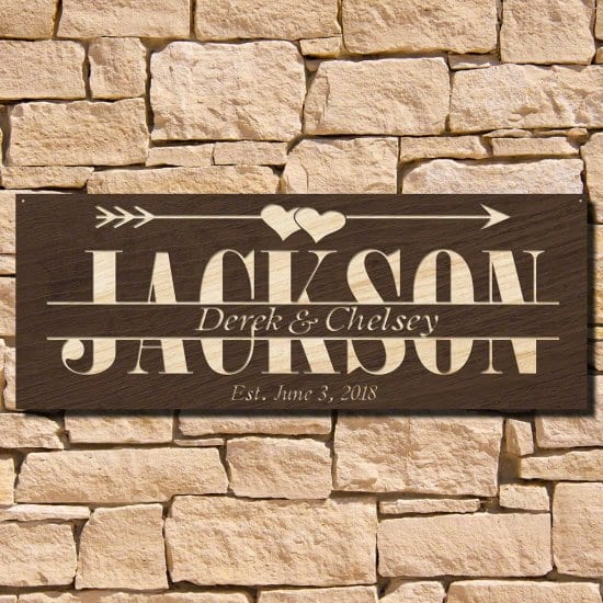 Personalized Home Signs are Gift Ideas for Couples Who Have Everything