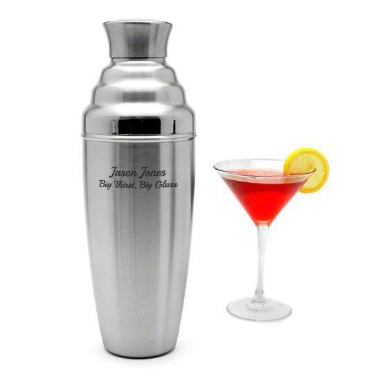 Engraved Cocktail Shaker