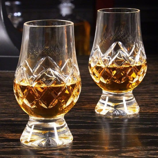 Pair of Crystal Cut Whiskey Glasses