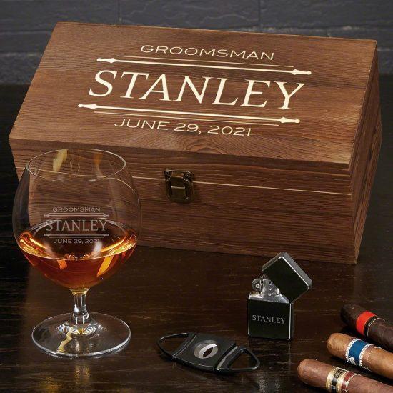 Custom Cognac Gift Set Gift Ideas for Him
