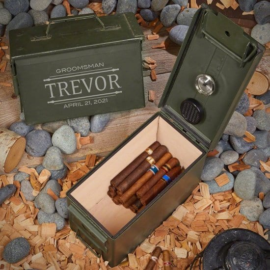 Engraved Ammo Can Cigar Humidor