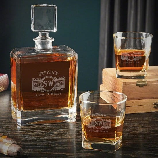 Square Decanter and Glasses Set
