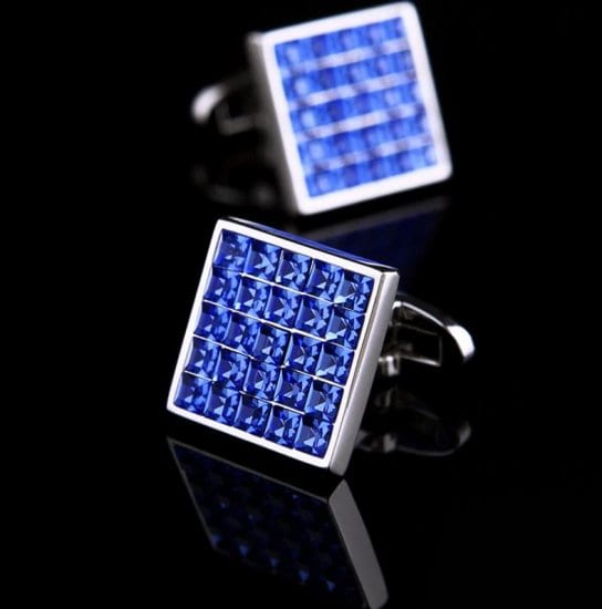 Blue Crystal Cufflinks