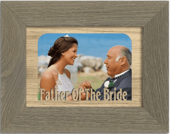 Customizable Father of the Bride Picture Frame