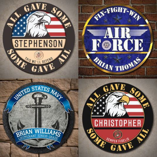 Personalized Military Signs