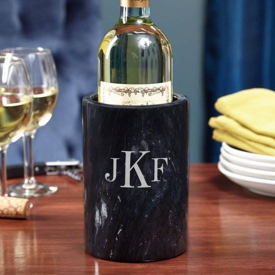 Monogrammed Marble Wine Chiller