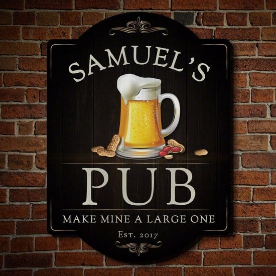 Personalized Beer Mug Pub Sign