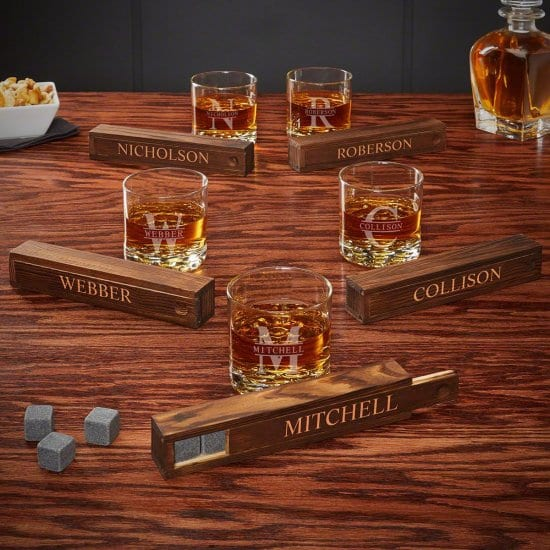 Set of Five Whiskey Stone Gift Sets