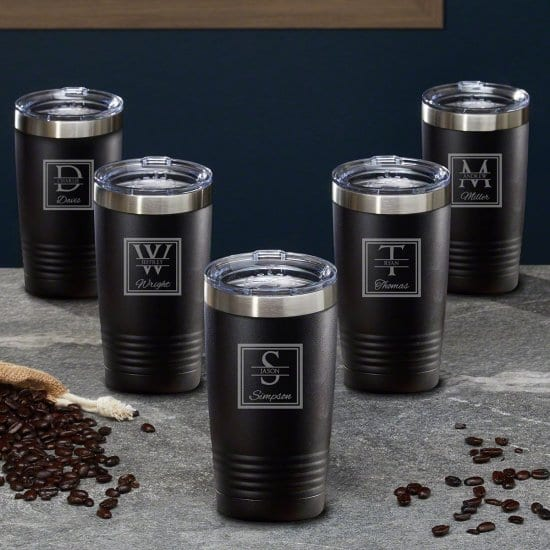 Customized Coffee Tumblers, Set of 5
