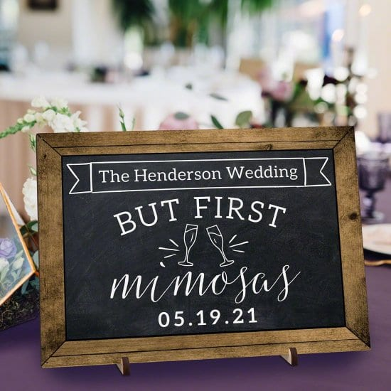 Chalkboard Mimosa Bar Wedding Sign