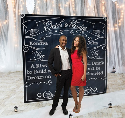 Large Custom Wedding Backdrop