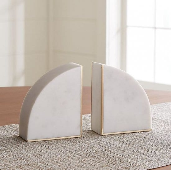 White Marble Bookends Boss Day Gifts