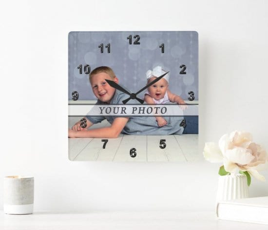 Family Photo Clock Personalized Grandparent Gift