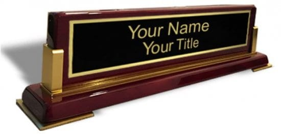 Wooden Name Plate for Desk