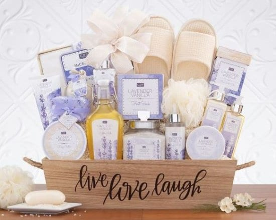 Spa Basket Gifts for Fiances