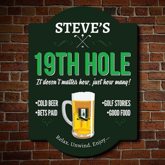 19th Hole Personalized Sign