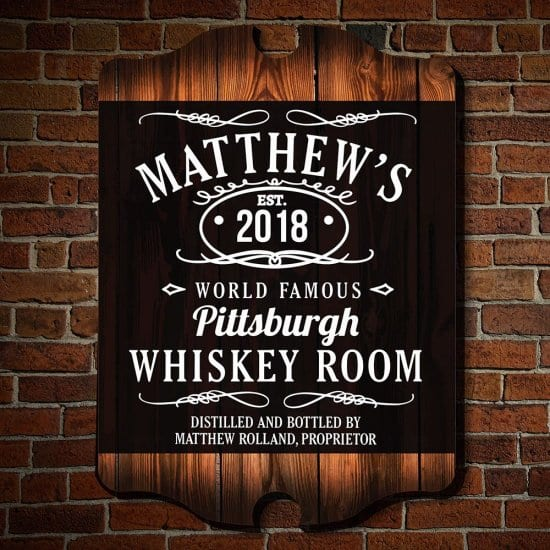 Personalized Whiskey Room Sign