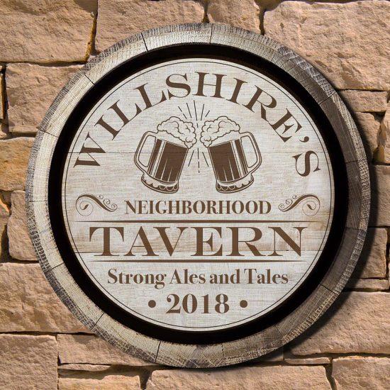 Custom Wood Tavern Sign Best Mens Gifts